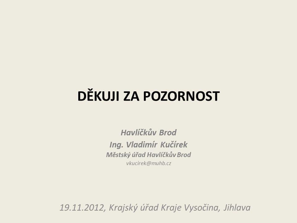 DĚKUJI ZA POZORNOST Havlíčkův Brod Ing.