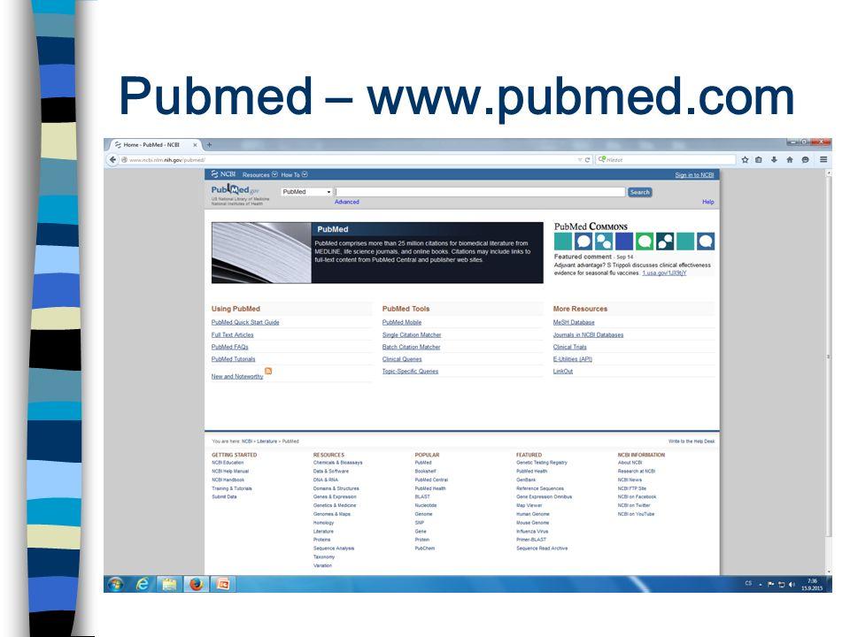 Pubmed – www.pubmed.com