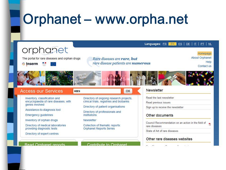 Orphanet – www.orpha.net