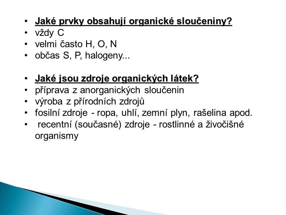 Jak se dělí organické sloučeniny?Jak se dělí organické sloučeniny.