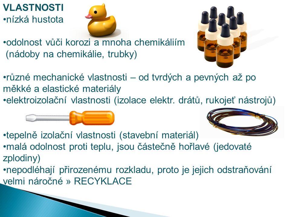 První plasty vycházejí z přírodních látek, především z celulosy r.