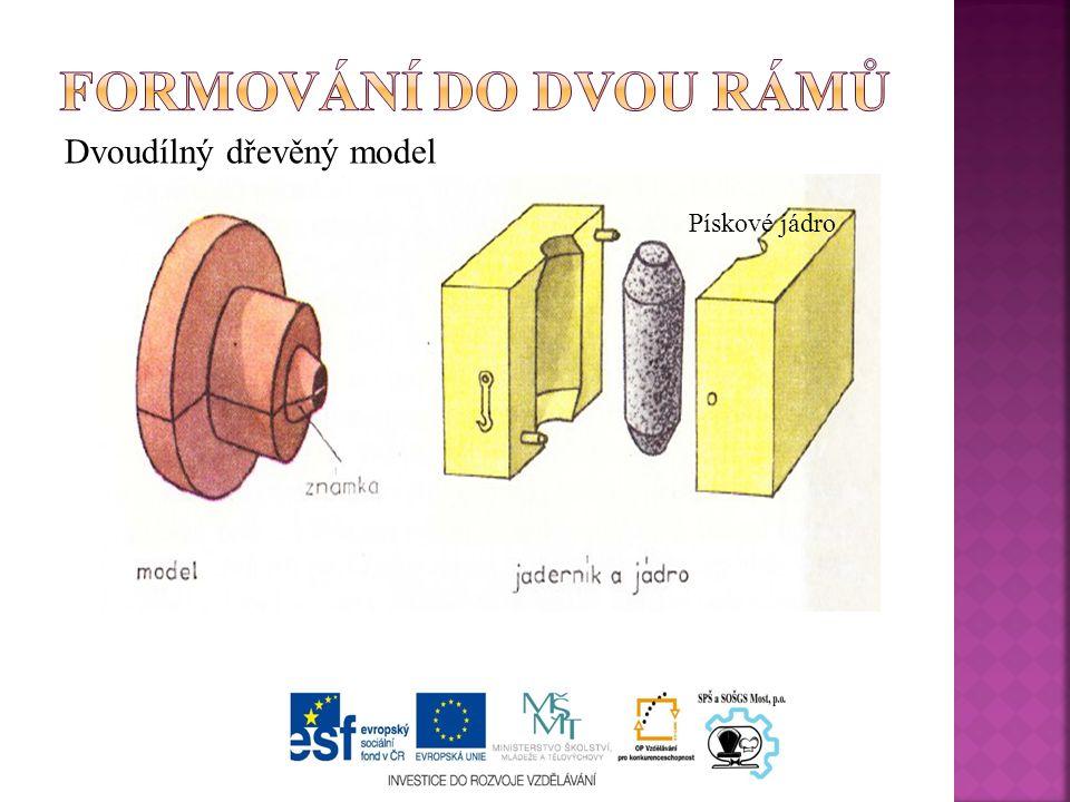 Dvoudílný dřevěný model Pískové jádro