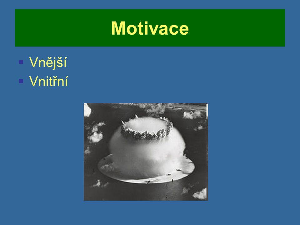 Motivace  Vnější  Vnitřní