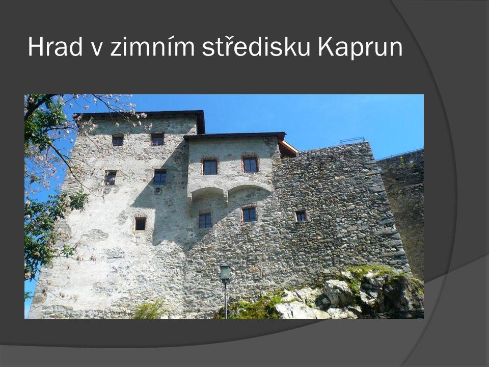 Hrad v zimním středisku Kaprun