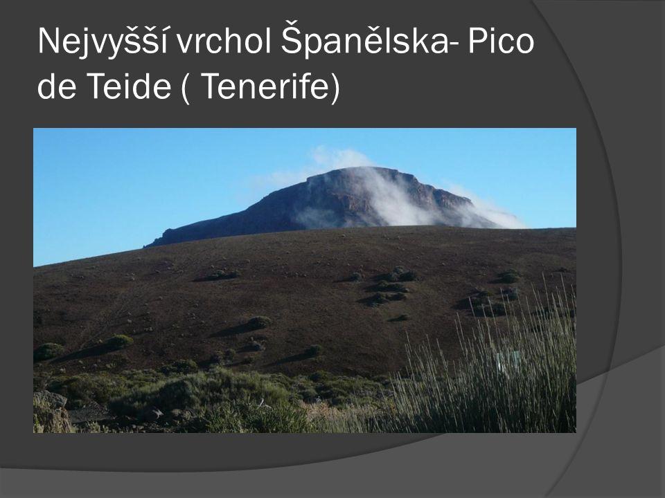 Nejvyšší vrchol Španělska- Pico de Teide ( Tenerife)