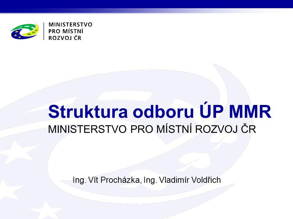 MINISTERSTVO PRO MÍSTNÍ ROZVOJ ČR Ing. Vít Procházka, Ing.