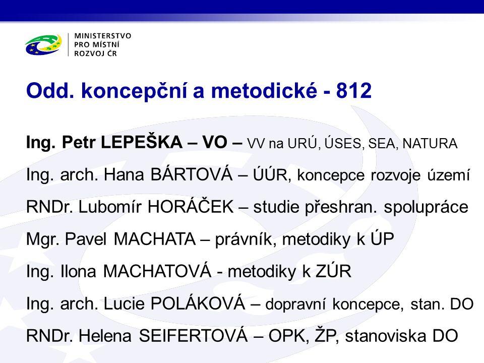 Ing. Petr LEPEŠKA – VO – VV na URÚ, ÚSES, SEA, NATURA Ing.