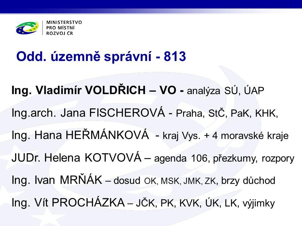 Ing. Vladimír VOLDŘICH – VO - analýza SÚ, ÚAP Ing.arch.