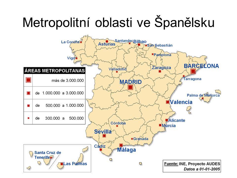Metropolitní oblasti ve Španělsku