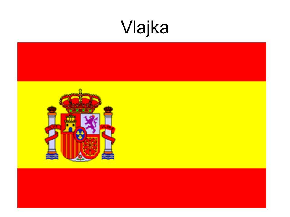 Vlajka Barvy španělské vlajky navazují na znak starobylého aragonského království z 12.stol.