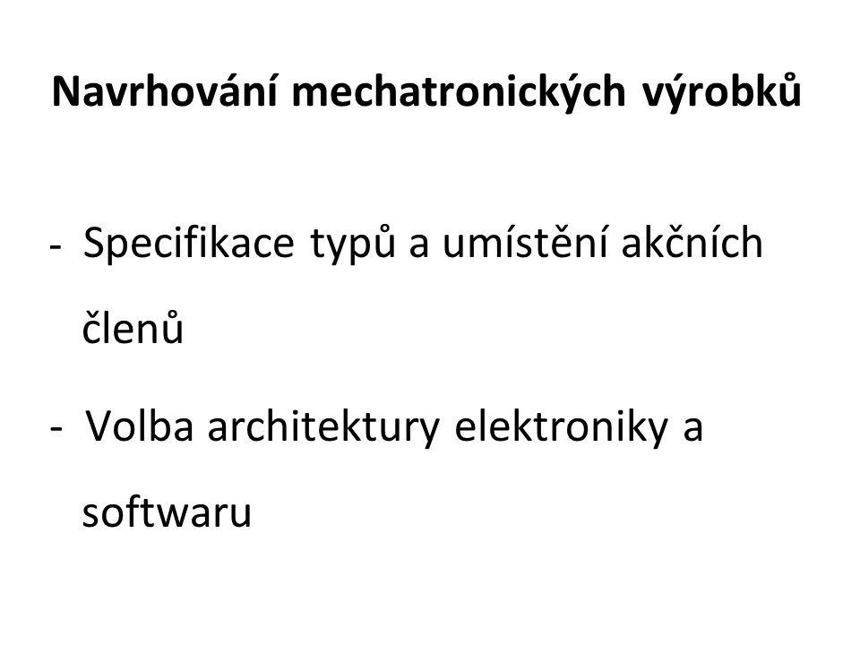 Navrhování mechatronických výrobků - Specifikace typů a umístění akčních členů - Volba architektury elektroniky a softwaru