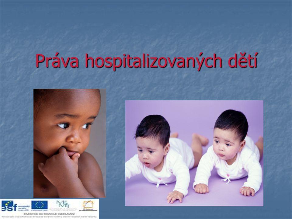 Práva hospitalizovaných dětí