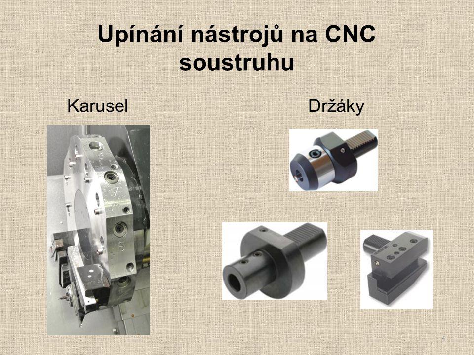 Upínání nástrojů na CNC soustruhu 4 Karusel Držáky