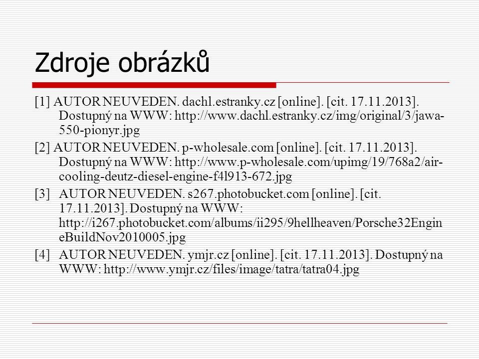 Zdroje obrázků [1] AUTOR NEUVEDEN. dachl.estranky.cz [online].