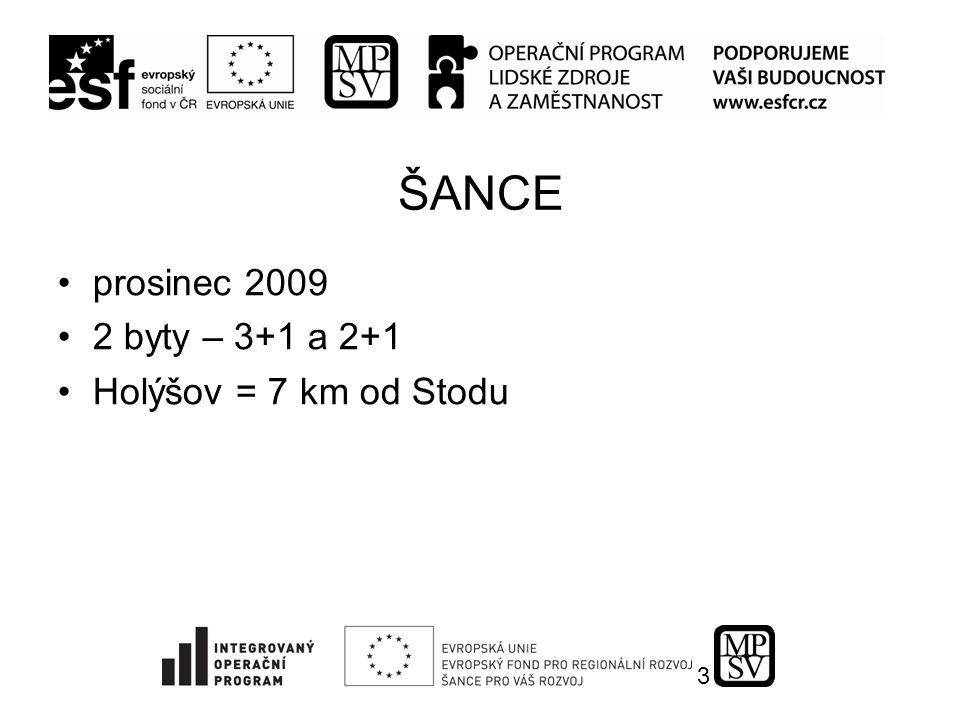 3 ŠANCE prosinec 2009 2 byty – 3+1 a 2+1 Holýšov = 7 km od Stodu