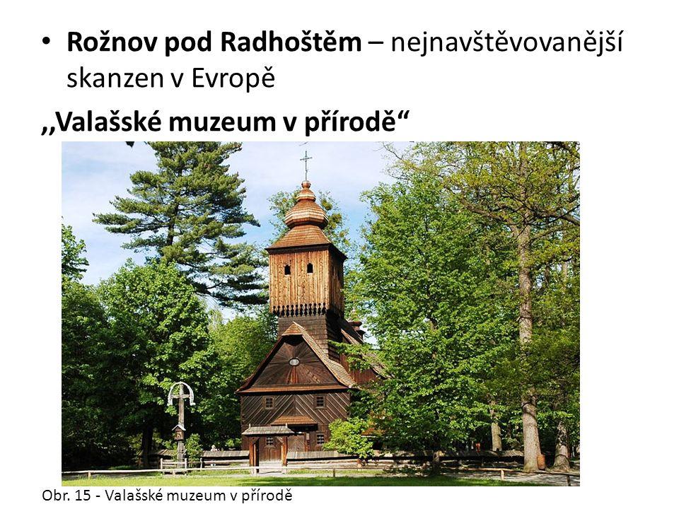 Rožnov pod Radhoštěm – nejnavštěvovanější skanzen v Evropě,,Valašské muzeum v přírodě Obr.