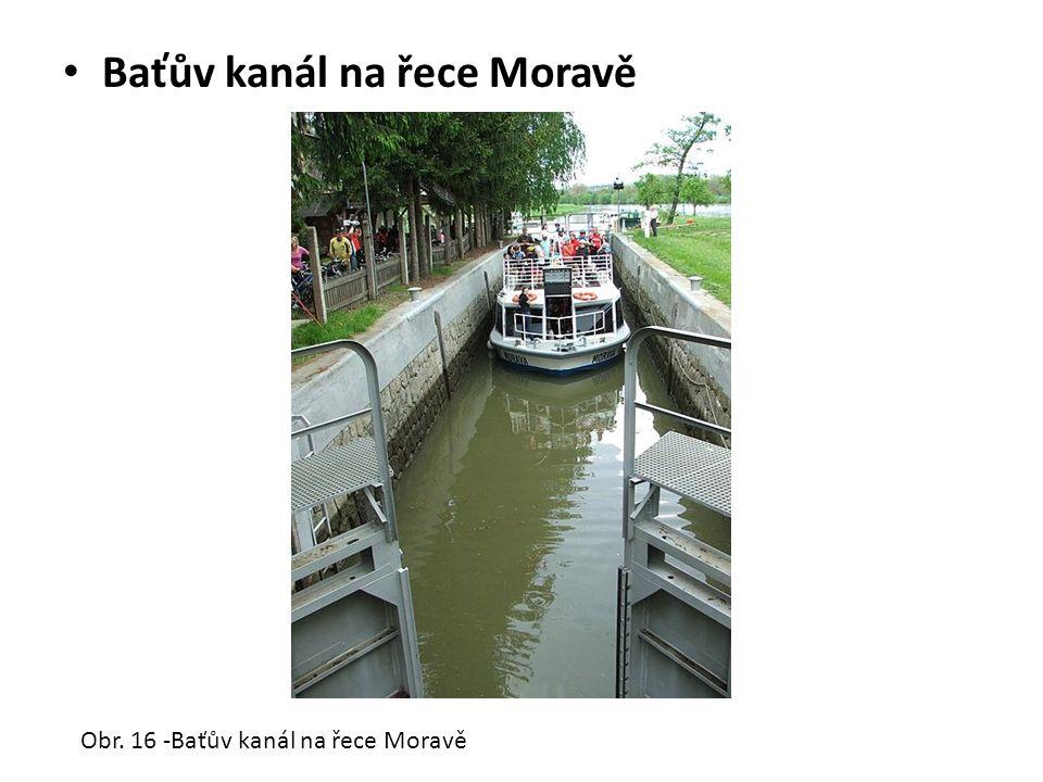 Baťův kanál na řece Moravě Obr. 16 -Baťův kanál na řece Moravě