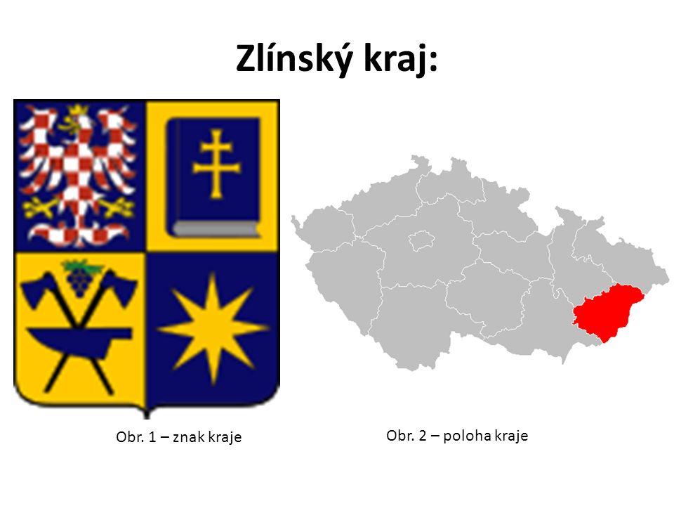 Zlínský kraj: Obr. 1 – znak kraje Obr. 2 – poloha kraje