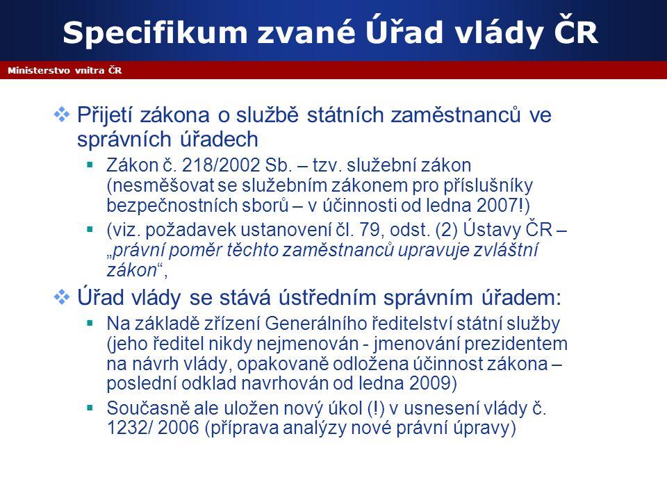 Ministerstvo vnitra ČR  E.1 Rozvoj finančního a výkonového managementu  E.2 Využití soukromých zdrojů pro veřejné investice  E.3 Sjednocení a prohloubení kontroly v ústřední státní správě E.
