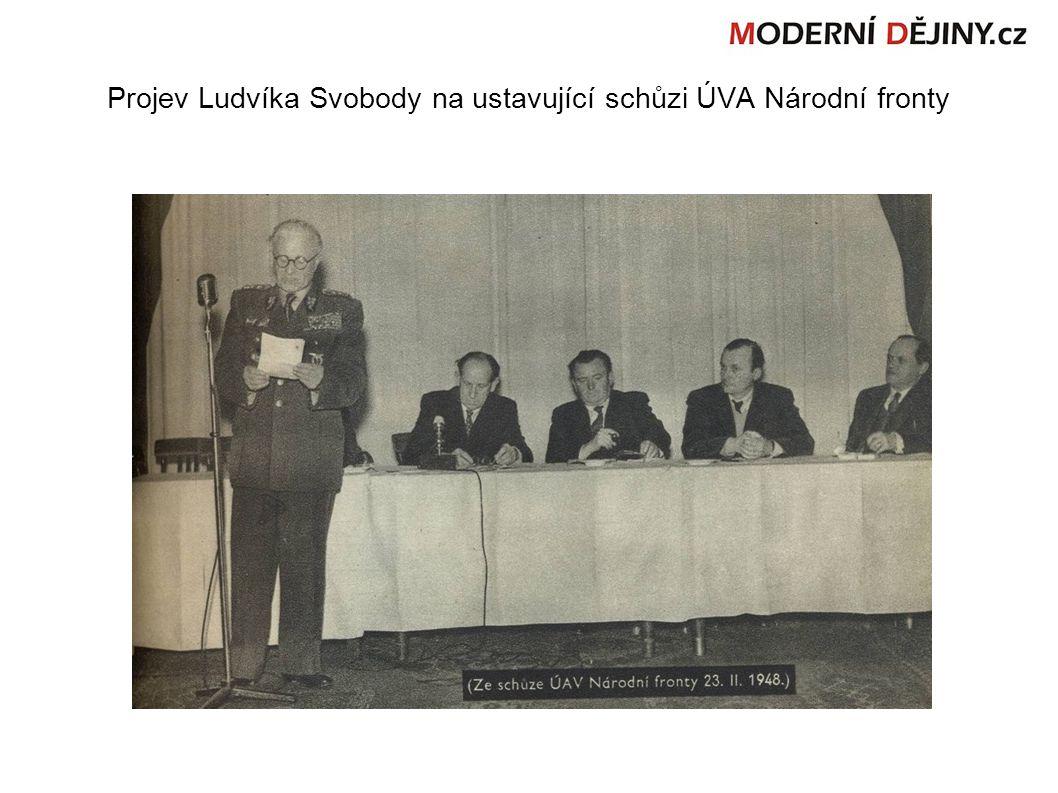 Projev Ludvíka Svobody na ustavující schůzi ÚVA Národní fronty