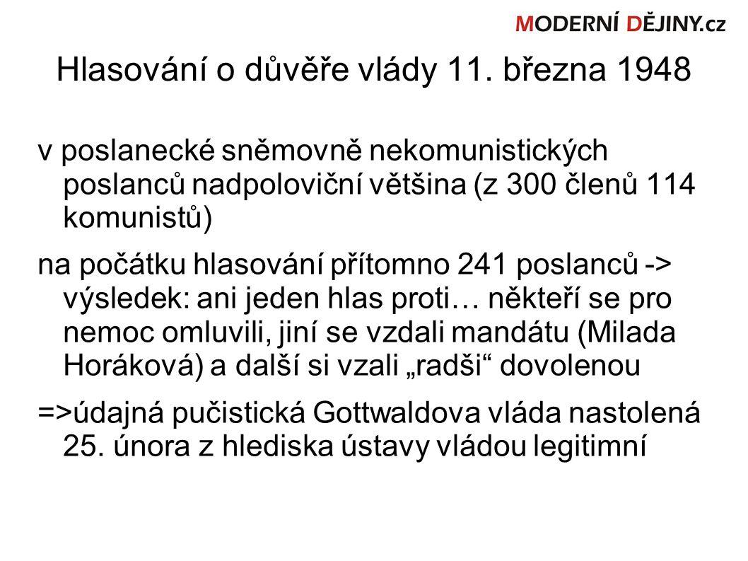 Hlasování o důvěře vlády 11.