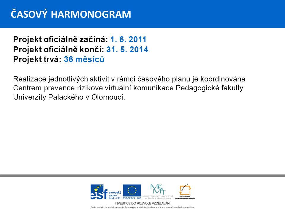 ČASOVÝ HARMONOGRAM Projekt oficiálně začíná: 1.6.
