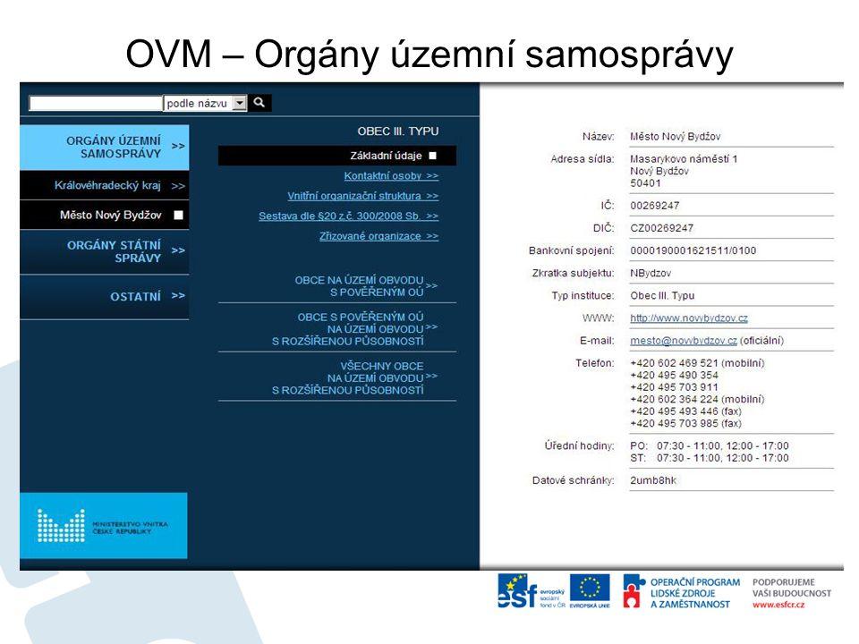 OVM – Orgány územní samosprávy