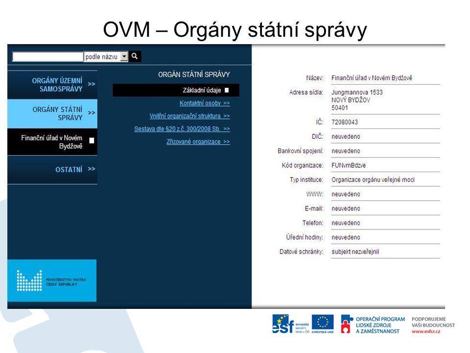 OVM – Orgány státní správy