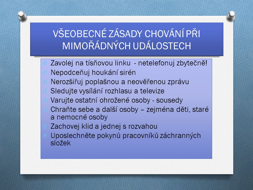 LINKY TÍSŇOVÉHO VOLÁNÍ 1.Hasičský záchranný sbor ČR 150 2.