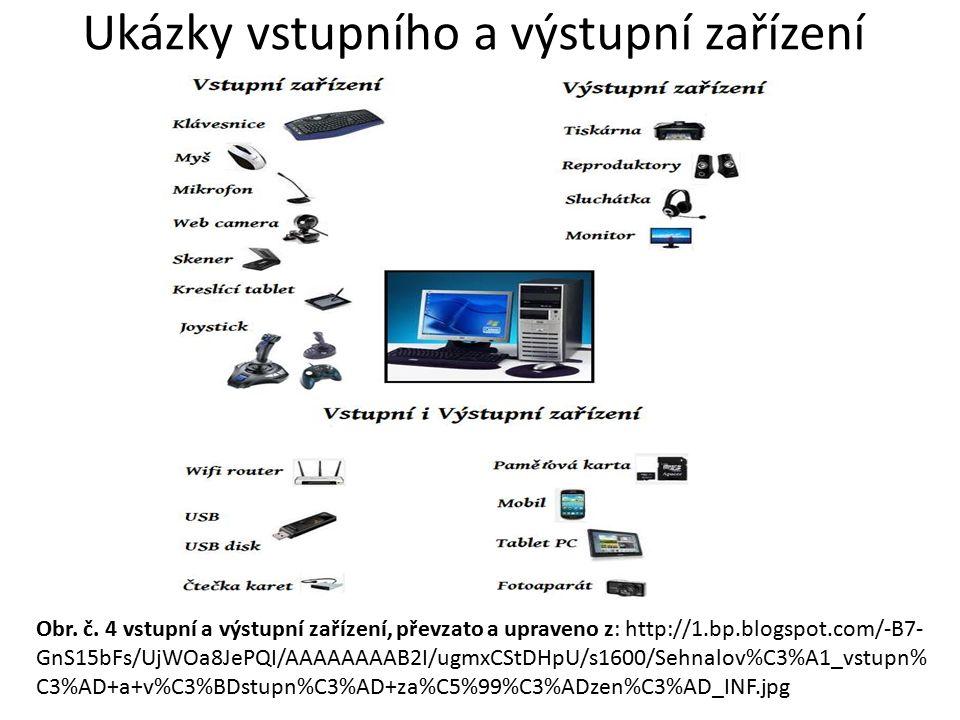 Ukázky vstupního a výstupní zařízení Obr. č.