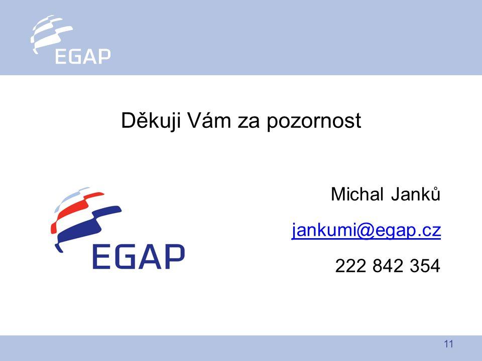 11 Děkuji Vám za pozornost Michal Janků jankumi@egap.cz 222 842 354