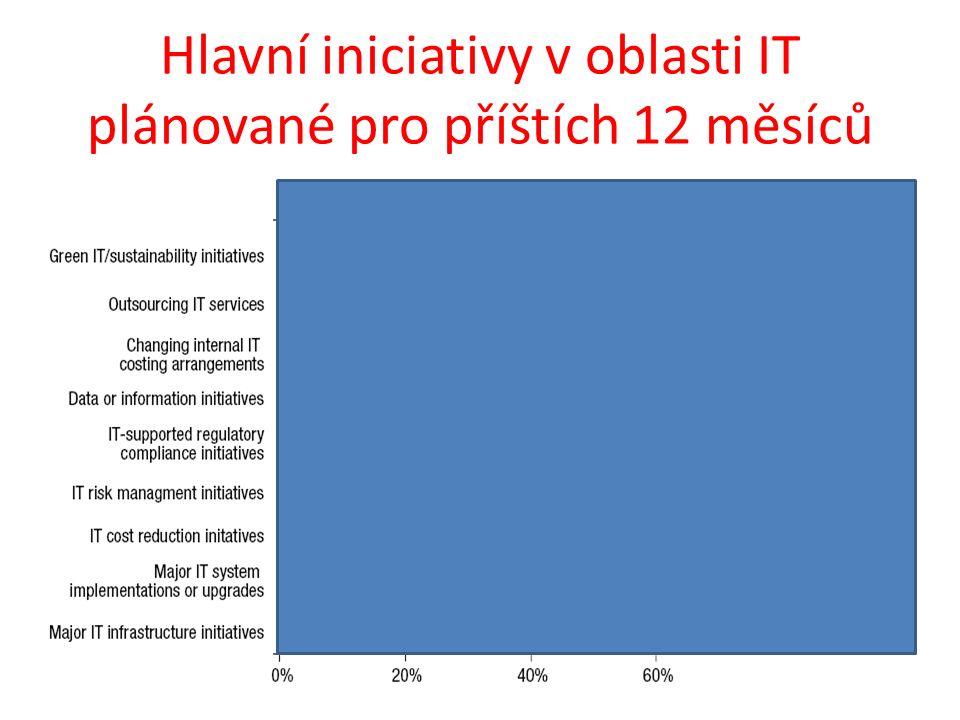 Hlavní iniciativy v oblasti IT plánované pro příštích 12 měsíců