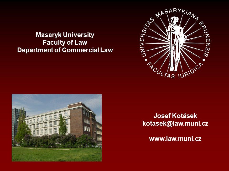 Samoregulační mechanismy v reklamě JUDr. Josef Kotásek, Ph.D. Masaryk University, Faculty of Law