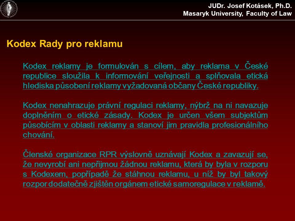 Reklama na tabákové výrobky (§3) JUDr.Josef Kotásek, Ph.D.