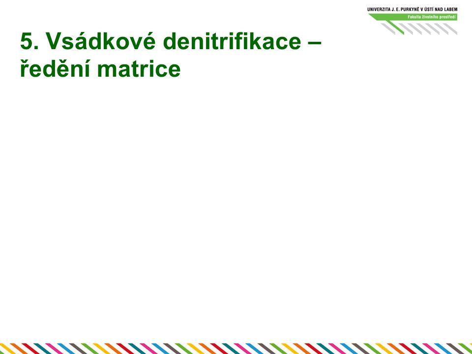 5. Vsádkové denitrifikace – ředění matrice
