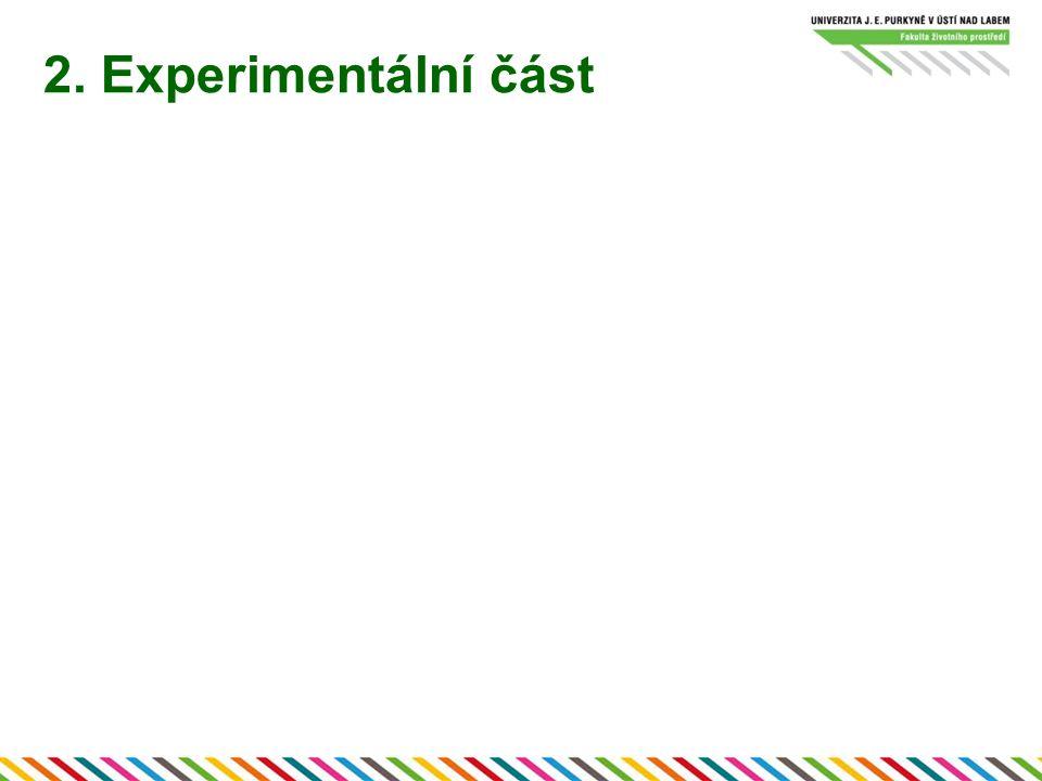 3.Vsádkové testy s proměnlivou koncentrací NO 3 - Celkem 20 experimentů –tři na rozjezd (1.