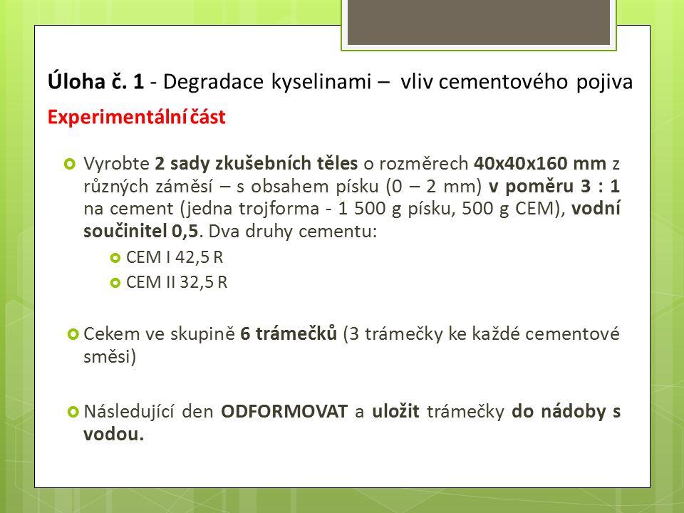 b) atmosférická koroze  Je způsobena agresivními plyny v atmosféře:  CO 2 : Krystaluje za objemových změn (karbonatace betonu) Ca(OH) 2 + CO 2  CaCO 3 + H 2 O  SO 2 : Ten oxiduje vzdušným kyslíkem na CaSO 4 ∙2H 2 O, dochází k rozpadu povrchové vrstvy (sulfatace betonu).
