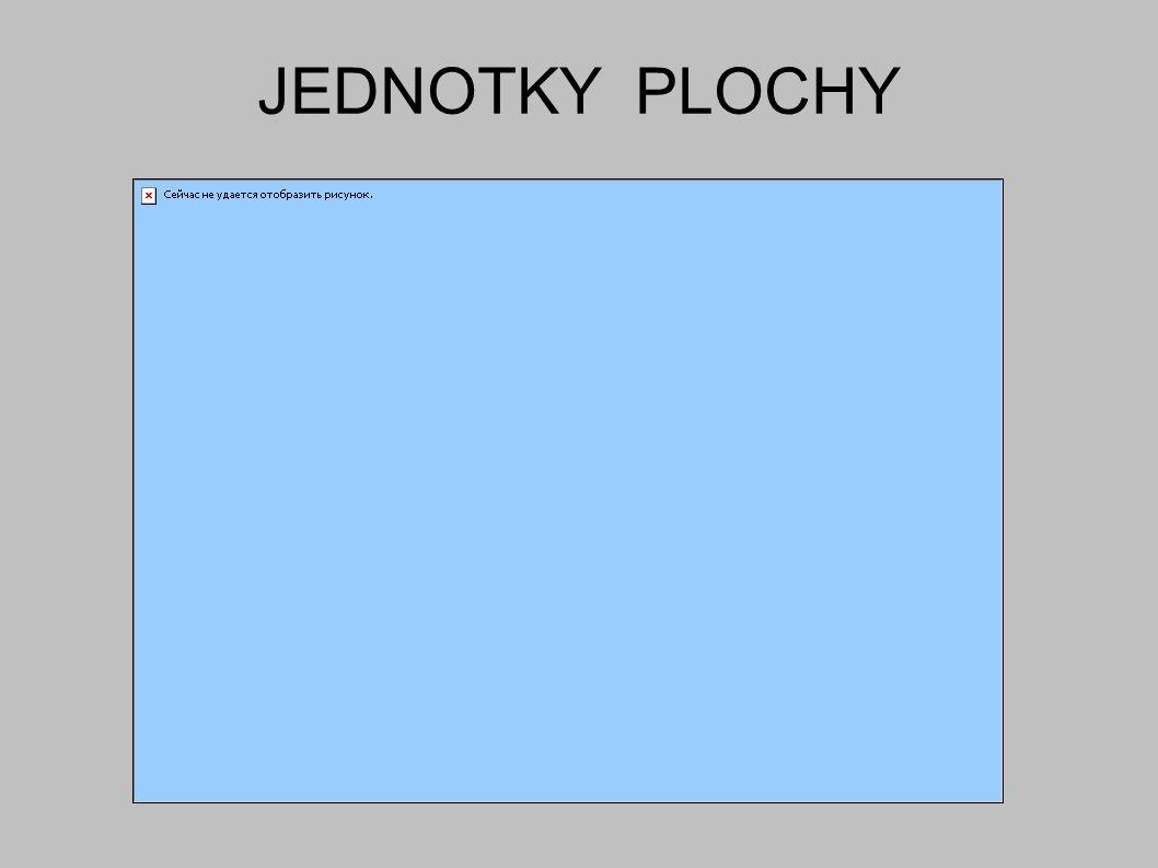 JEDNOTKY PLOCHY