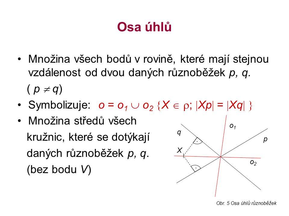 Otázky k opakování Vyjmenujte jednotlivé množiny bodů dané vlastnosti.