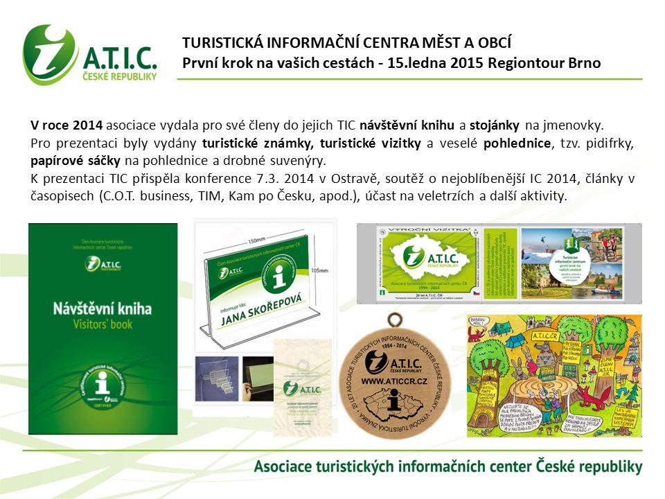 V roce 2014 asociace vydala pro své členy do jejich TIC návštěvní knihu a stojánky na jmenovky.