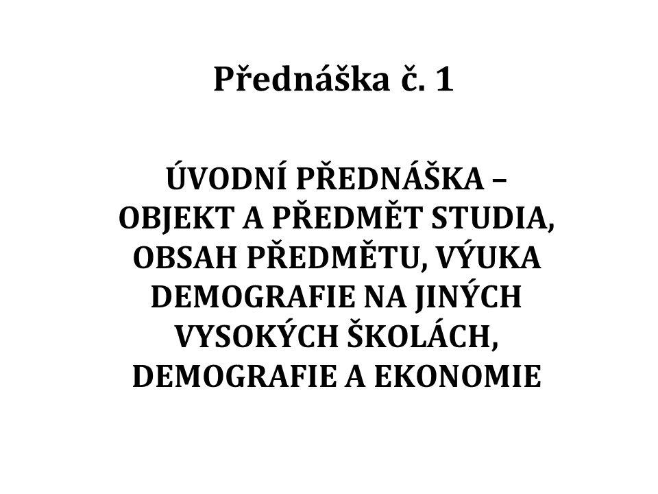 Přednáška č.
