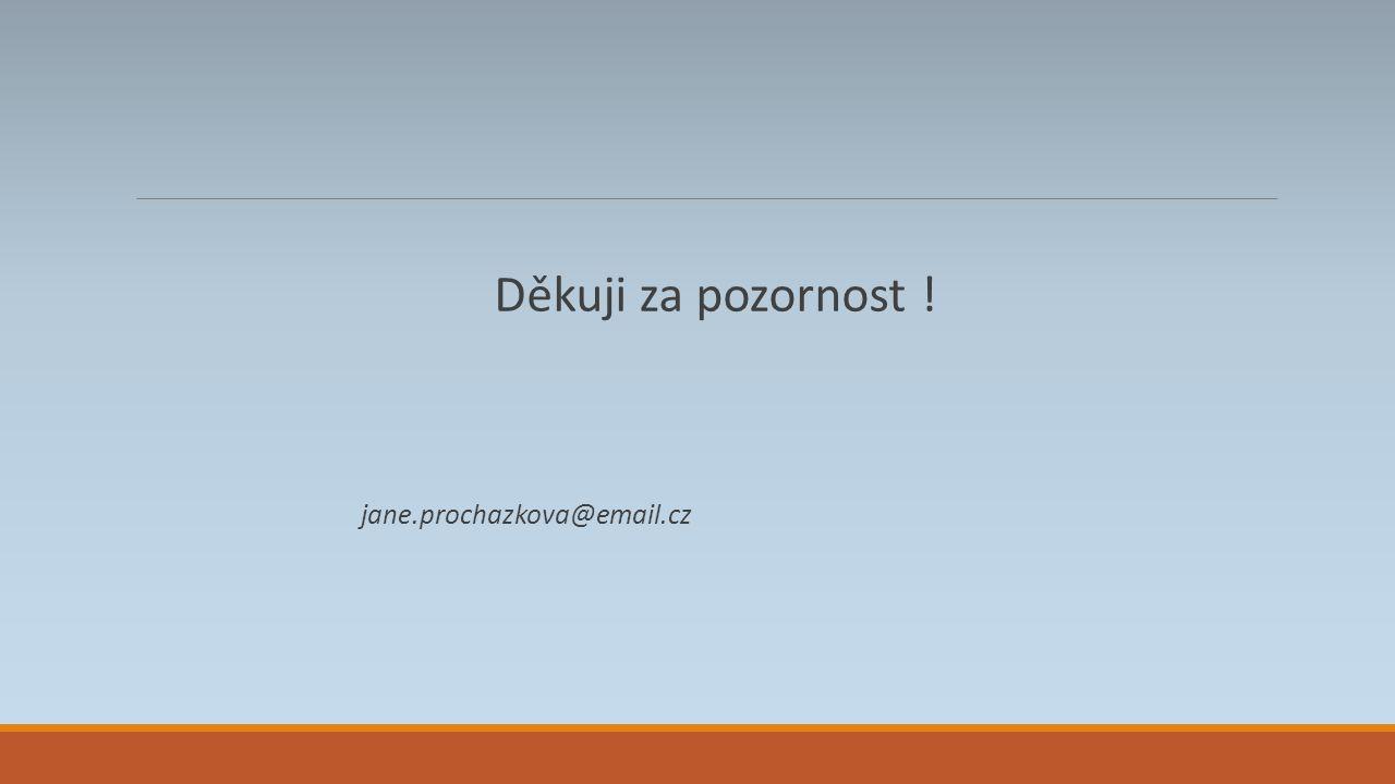 Děkuji za pozornost ! jane.prochazkova@email.cz