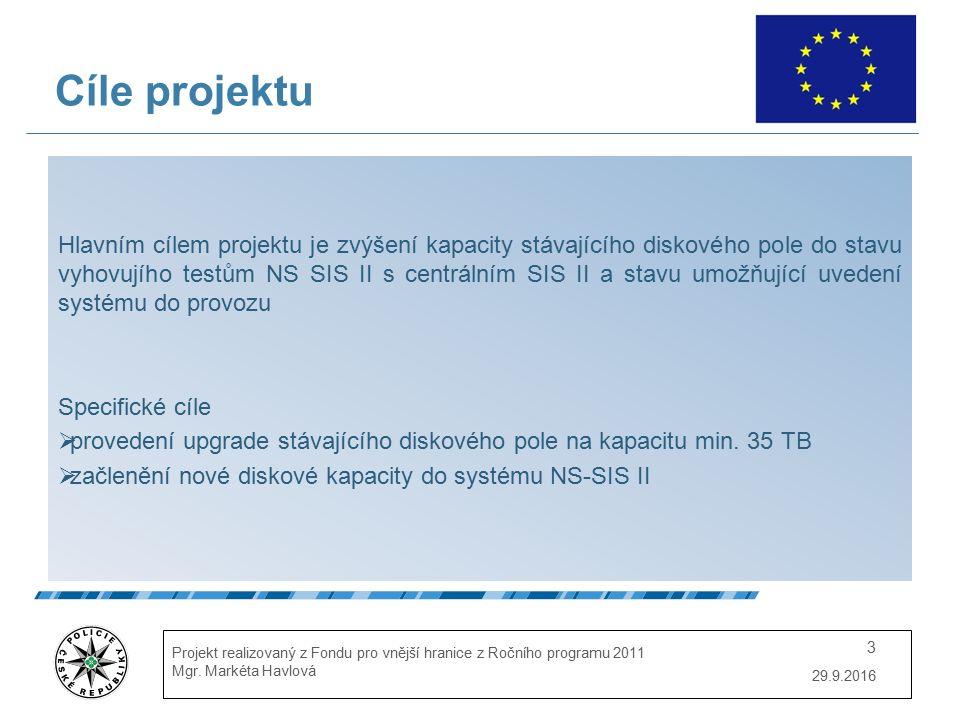 29.9.2016 Projekt realizovaný z Fondu pro vnější hranice z Ročního programu 2011 Mgr.