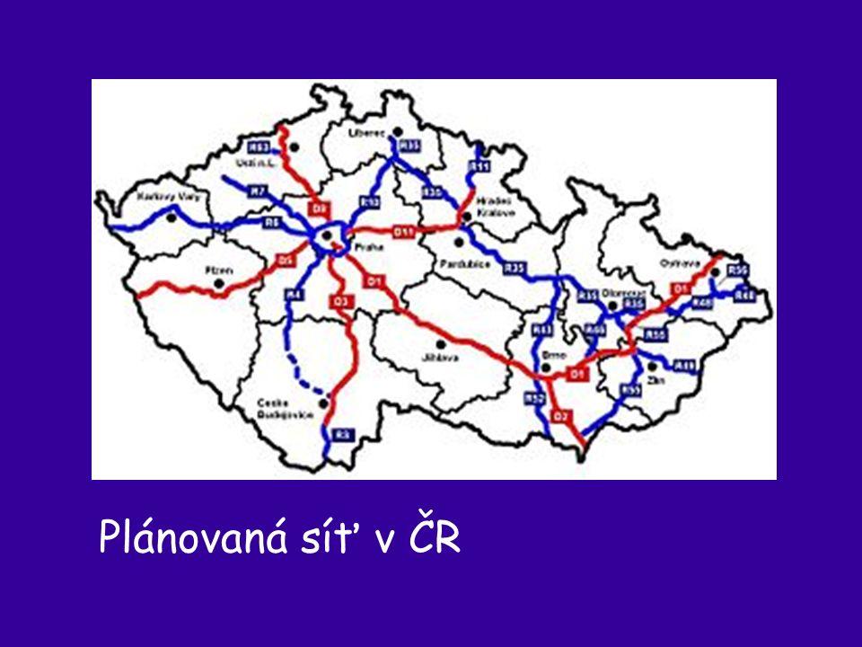 Plánovaná síť v ČR