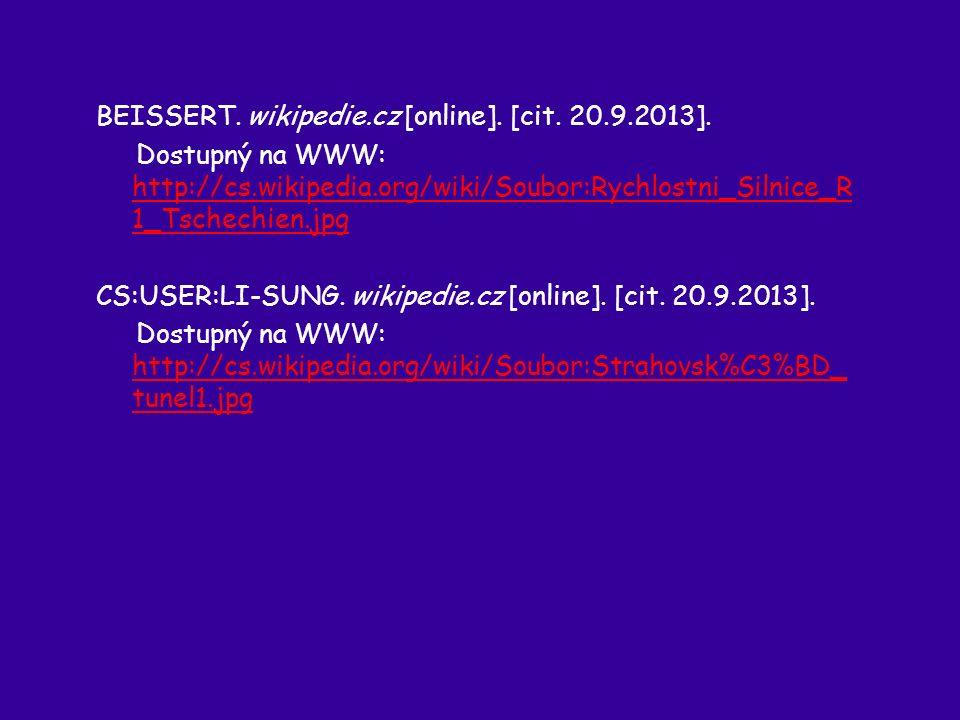 BEISSERT. wikipedie.cz [online]. [cit. 20.9.2013].