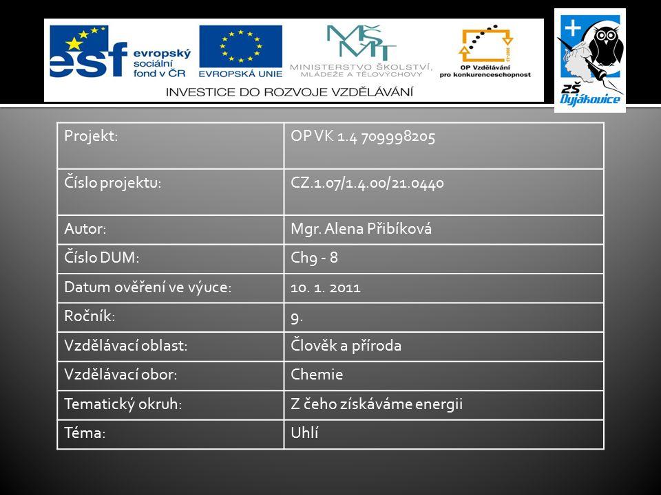  www.okd.cz www.okd.cz  http://www.uhli.biz/ http://www.uhli.biz/  Jirásek, J., Vavro, M.: Nerostné suroviny a jejich využití.