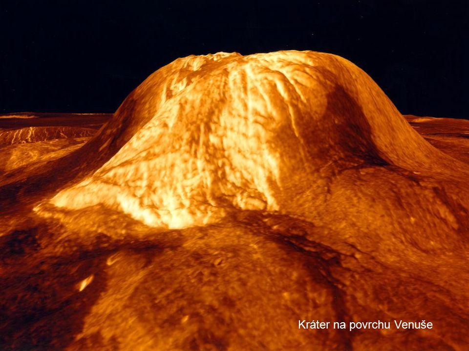 Kráter na povrchu Venuše
