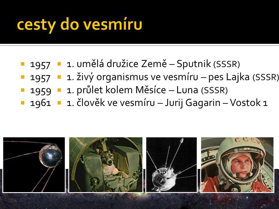 1957  1959  1961  1. umělá družice Země – Sputnik (SSSR)  1.