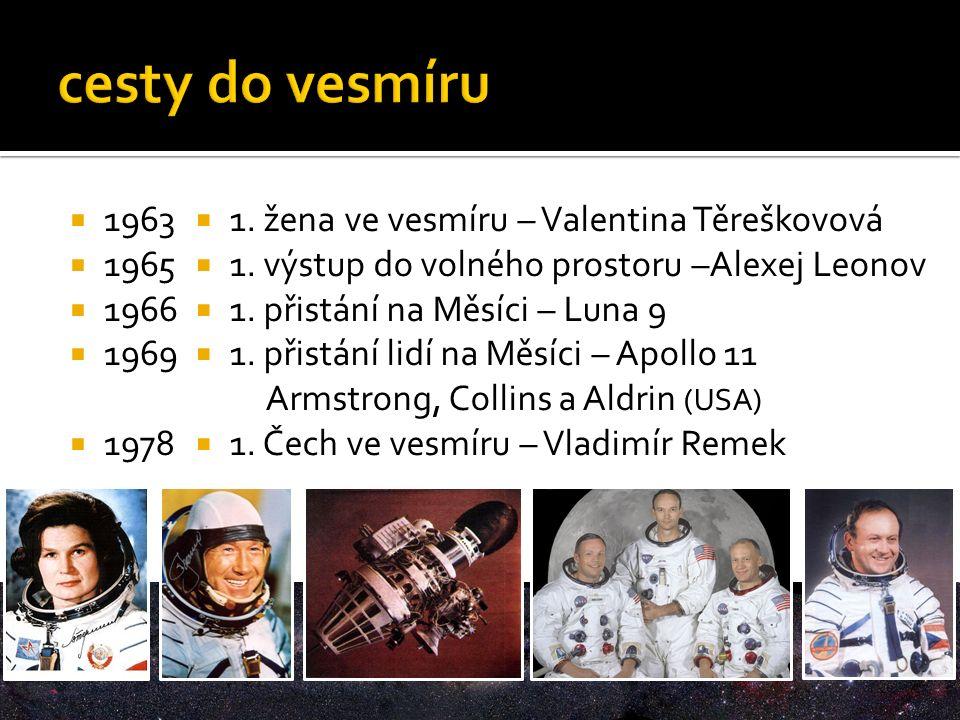  1963  1965  1966  1969  1978  1. žena ve vesmíru – Valentina Těreškovová  1.