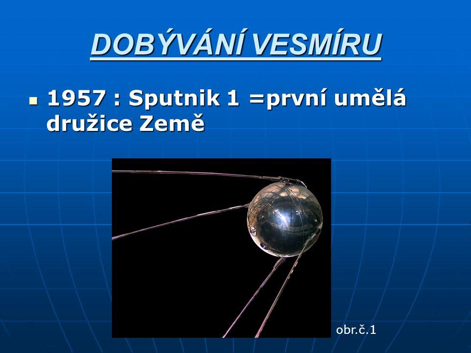 DOBÝVÁNÍ VESMÍRU 1957 : Sputnik 1 =první umělá družice Země 1957 : Sputnik 1 =první umělá družice Země obr.č.1
